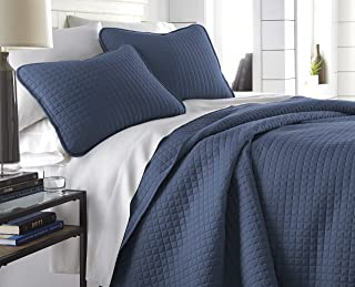 Southshore Fine Linens Vilano Springs Quilt Set, Dark Blue, King/California King (3-Piece)