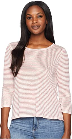 Mojave Stripe 3/4 Sleeve Cross-Back Top