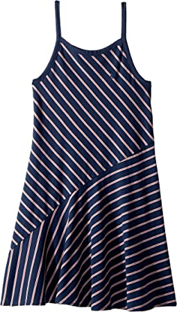 Striped Cotton Jersey Maxi (Little Kids)