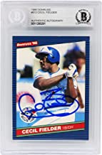Cecil Fielder Signed Toronto Blue Jays 1986 Donruss Baseball Rookie Card #512 - (Beckett Encapsulated)