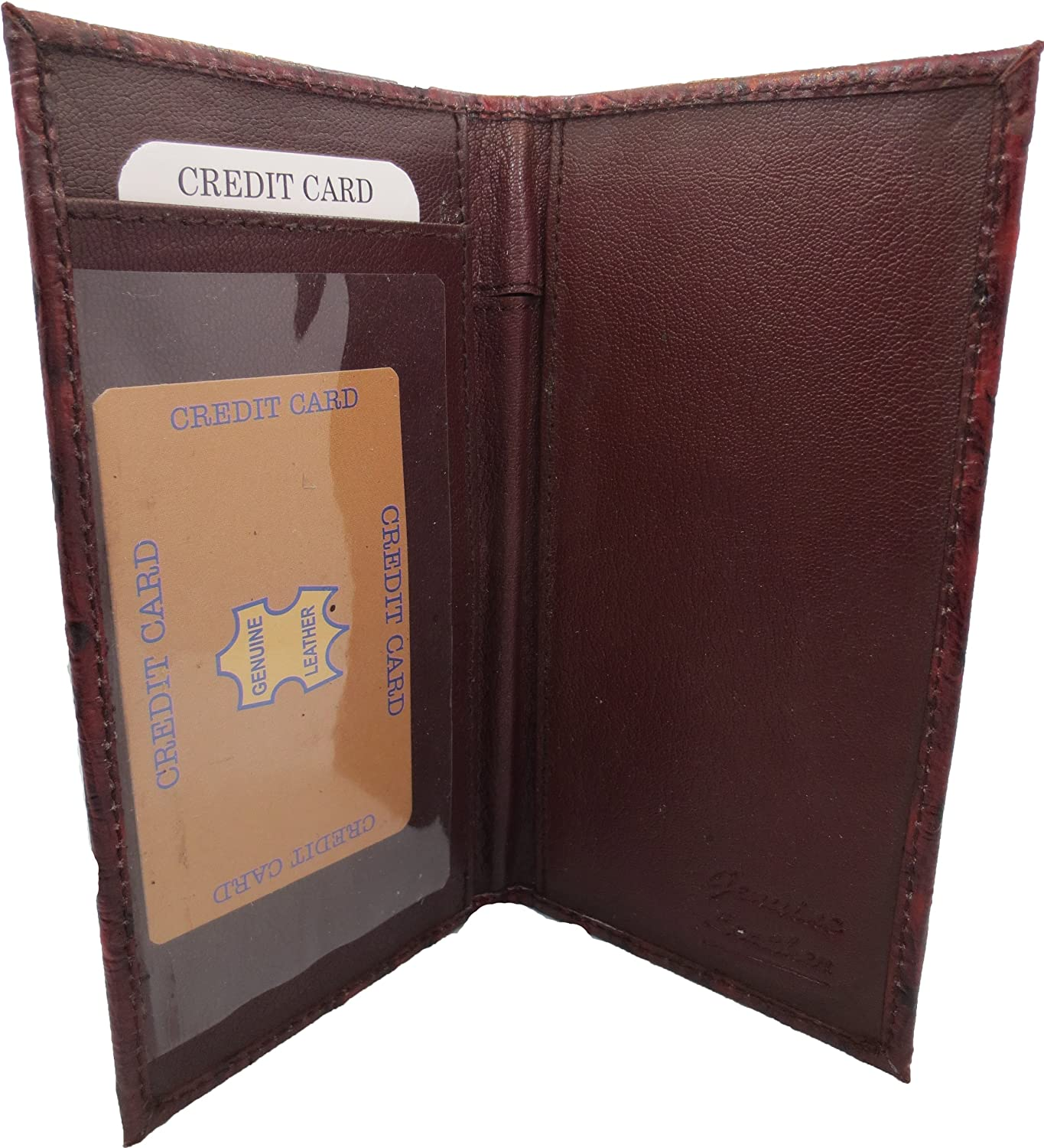 Marshal Genuine Leather New Colorado Springs Mall Checkbook Covers Burgun Case Max 40% OFF Wallet