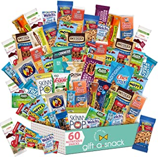 Holiday Christmas Healthy Snack Box Variety Pack (60 Count) Xmas Gift Basket - College Student Care Package, Natural Food ...