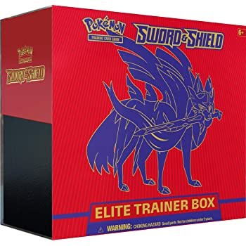 Pokemon TCG: Sword & Shield Elite Trainer Box - Zacian | 8 Booster Packs | Genuine Cards, Multicolor
