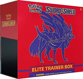 Pokemon TCG: Sword & Shield Elite Trainer Box - Zacian | 8 Booster Packs | Genuine Cards, Multicolor