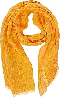 Lusie's Linen Scarf - 100% Linen - 19 x 67 Inch - For Women & Men - Lightweight