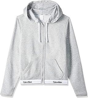 Calvin Klein Lounge Zip Up Hoodie-Modern Cotton Sudadera para Mujer