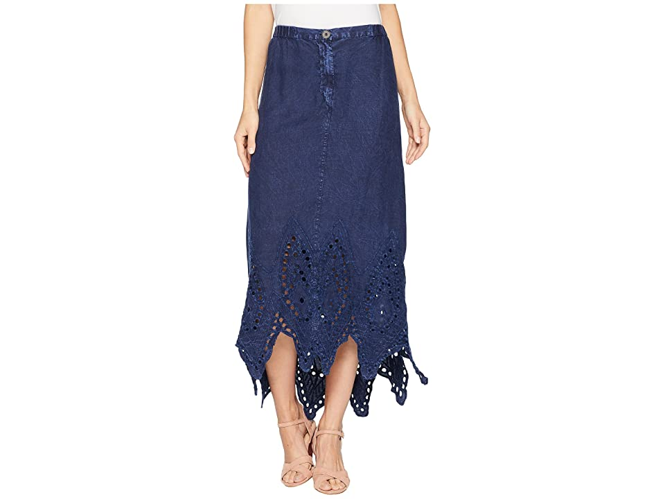 XCVI Daru Skirt (Distressed Evening Wash) Women's Skirt