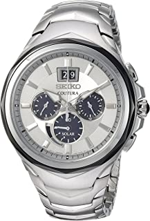 Seiko Men's Coutura Stainless Steel Big Date Date Chronograph Watch