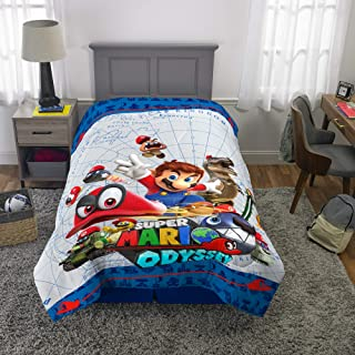 "Franco Kids Bedding Super Soft Reversible Comforter, Twin/Full Size 72"" x 86 Mario"
