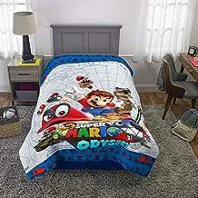 "Franco Kids Bedding Soft Reversible Comforter, Twin/Full Size 72"" x 86"", Super Mario"