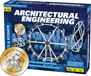 Thames & Kosmos Architectural Engineering   Science Experiment & Model Building Kit   Build 26 Models of Structures & Stru...