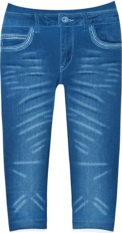 Crush Toddler Girls Blue Jean Print Leggings in 7 Fun Styles in Sizes 2T-4T