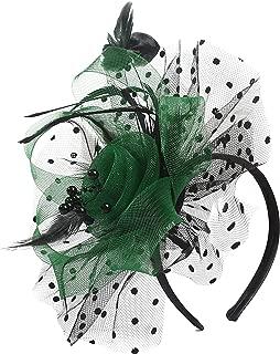 black and green fascinator