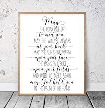May the Road Rise To Meet You Irish Blessing Printable Wedding Print Inspirational Prints Christian Wall Art St Patricks Day Printable Wood Pallet Design Wall Art Sign Plaque with Frame wooden sign