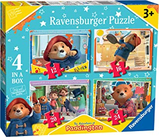 Ravensburger The Adventures of Paddington - 4 in Box (12, 16, 20, 24 piece) Jigsaw Puzzles for Kids age 3 years and up