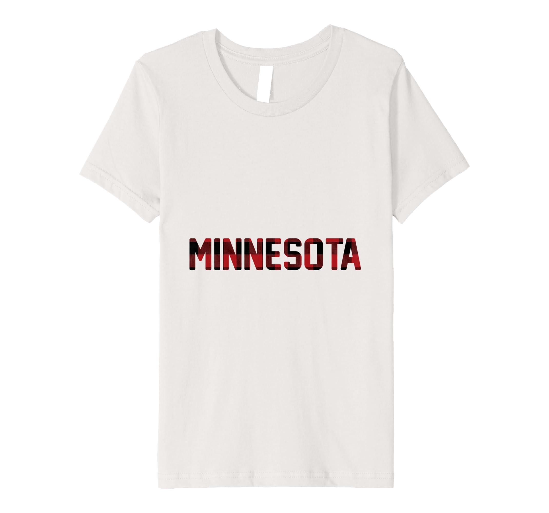 State Of Minnesota Plaid T Shirt Amazon