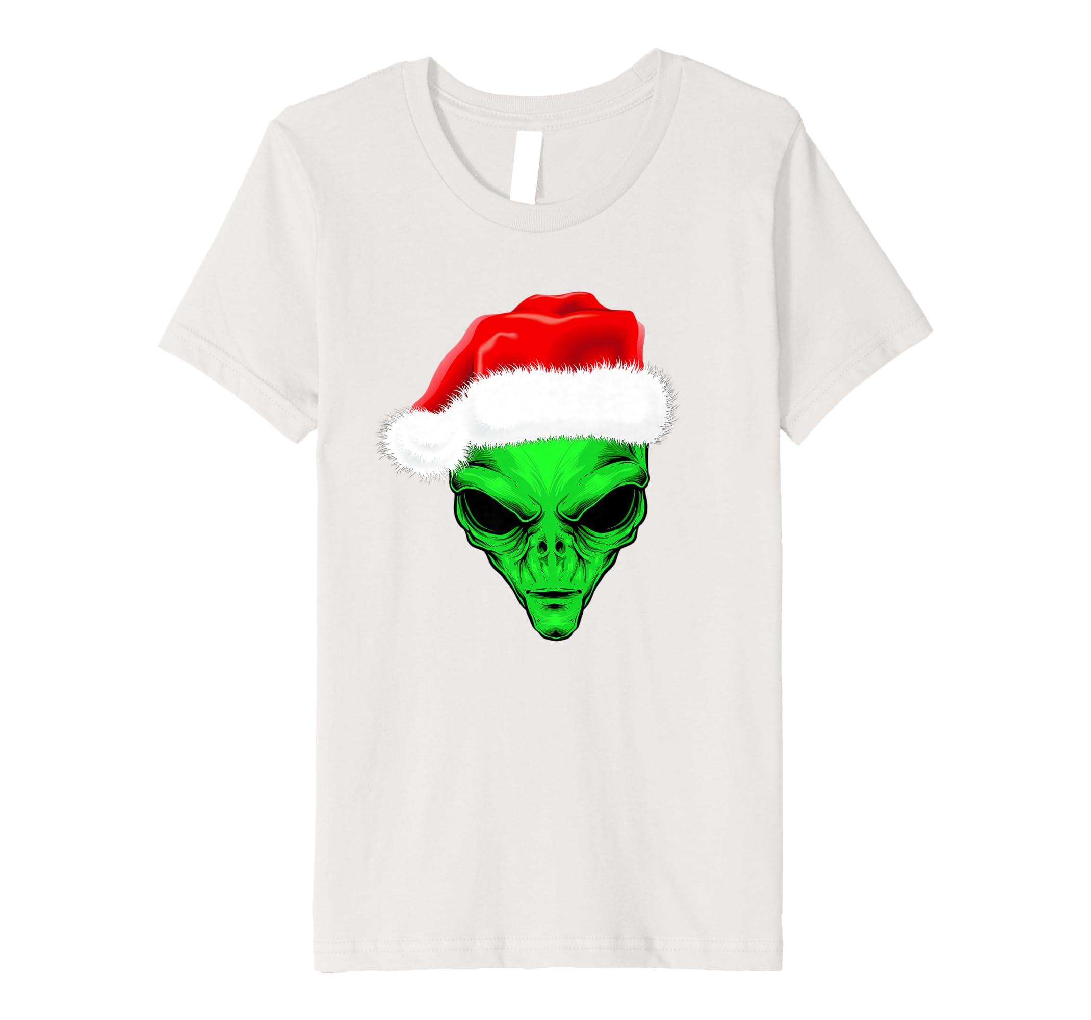 Amazon.com: Camiseta Playera Alien en navidad hombre mujeres ninos: Clothing