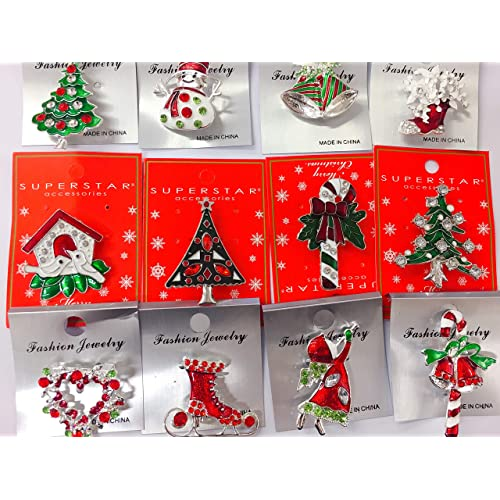 Christmas Brooches And Pins.Brooches And Pins Christmas Amazon Com
