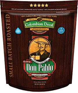 2LB Don Pablo Colombian Decaf – Swiss Water Process Decaffeinated –..