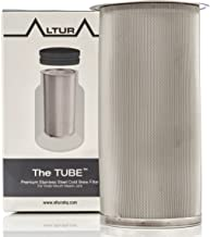 The TUBE: Cold Brew Coffee Maker and Tea Infuser Kit. Premium Stainless Steel Mesh Filter Designed to Fit All Wide Mouth Mason Jars. Brew Guide and Recipe eBook Included (Small)