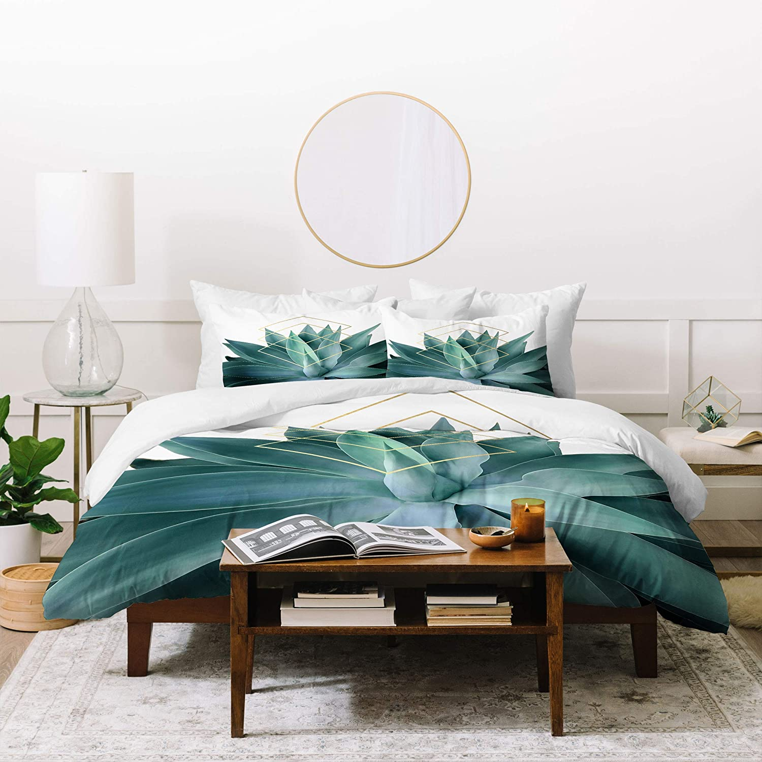 Society6 Gale Switzer Agave Geometrics with Pillowcase security Duvet Set Sale Special Price