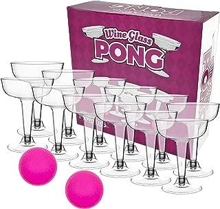 Fairly Odd Novelties FON-10286 WINE GLASS PONG Fun Novelty Party Drinking Game, 5 oz, Pink
