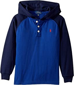 Polo Ralph Lauren Kids - Waffle-Knit Cotton Hoodie (Little Kids/Big Kids)