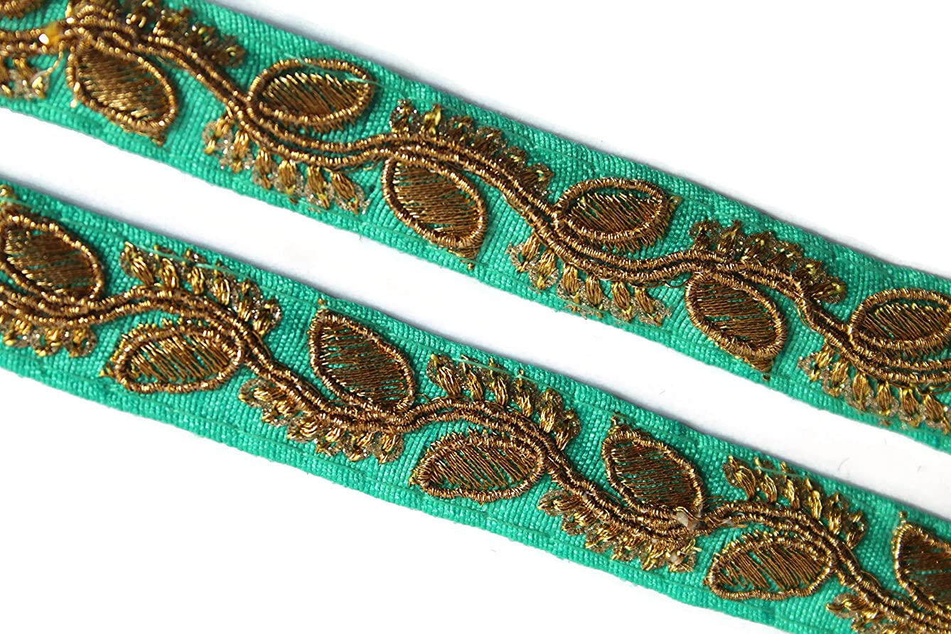 09 Yards of zari Embroidered Border Embellishment by iDukaancrafts