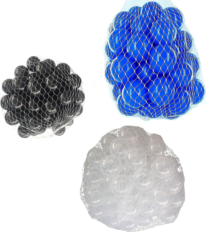 900 Bälle für Bällebad gemischt mix mit transparent, blau und schwarz B07B2ZPT9S  Auktion     | Exzellente Verarbeitung