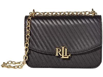 LAUREN Ralph Lauren Madison 22 Medium Crossbody (Black 2) Handbags