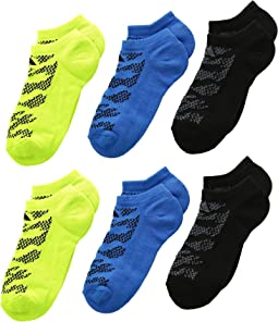 Tiger Style No Show Socks 6-Pack (Little Kid/Big Kid/Adult)