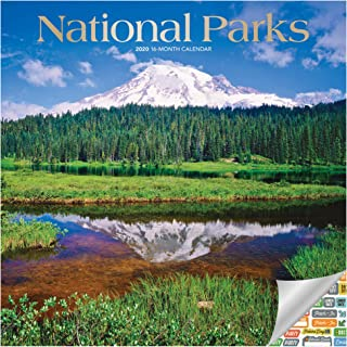 National Parks Calendar 2020 Set - Deluxe 2020 National Parks Wall Calendar with Over 100 Calendar Stickers (National Parks Gifts, Office Supplies)