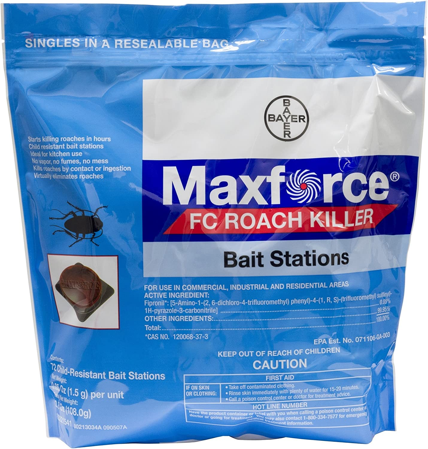 Bayer 4314688 Maxforce FC Roach Bait Small Max 79% OFF Stations Insec New Shipping Free Shipping Killer