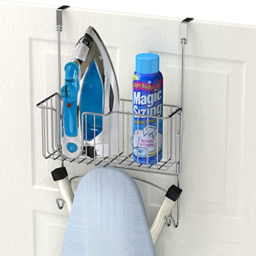 high quality Simple Houseware lowest Over-The-Door/Wall-Mount new arrival Ironing Board Holder, Chrome online