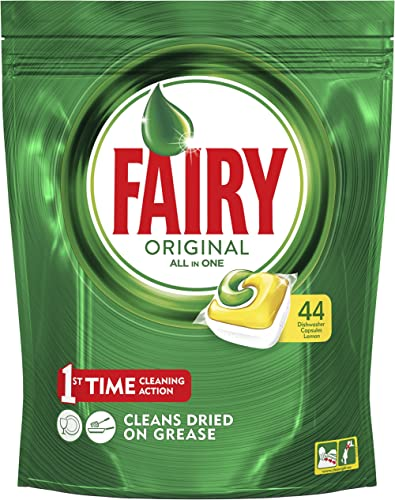 Fairy Original All in One Dishwasher Capsules, 44 Pack, Lemon, 1 gram