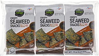 CJ Bibigo Crispy Seaweed Korean BBQ, 5oz, (Pack of 3)