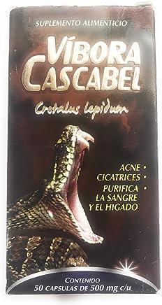 Vibora de Cascabel 150 Capsules 500mg ea. Cascabel Rattlesnake, Rattlesnake