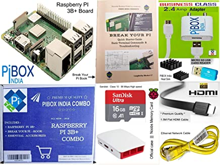 Raspberry Pi 3B+/3B Plus Motherboard Combo - PiBOX India Variation (PiBOX - Essential Combo Red/White 3215RW)