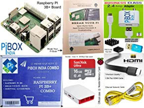 Raspberry Pi 3B+/3B Plus Motherboard Combo - PiBOX India Variation (PiBOX - Essential Combo Red/White 3215RW)