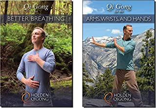 Bundle: Lee Holden Qigong DVDs: Qi Gong for Healthy Lungs, Better Breathing Qi Gong DVD, and Qi Gong for Arms and Hands 2-DVD (YMAA) **BestSeller** (Carpal Tunnel)