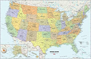 Usa Dry Erase Map Decal