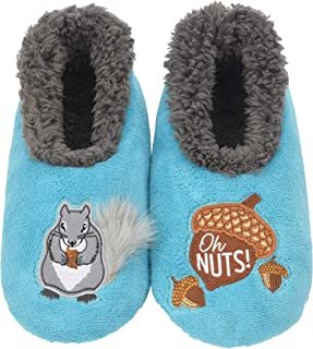 Snoozies Pairables Womens Slippers - House Slippers - Squirrel Oh Nuts