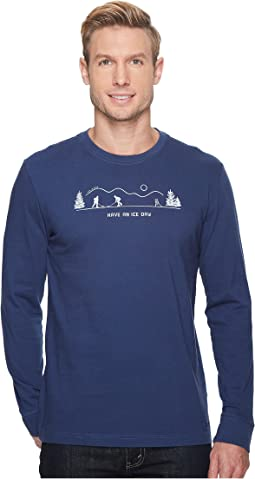 Life is Good - Pond Hockey Long Sleeve Crusher Tee