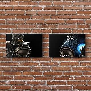 Mortal Kombat 11 Painting Set - Scorpion - Sub-Zero - Art Prints - Wall Decor - Posters - Gift (4x6-18x24 IN)