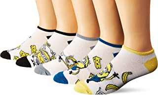 Universal Despicable Me 5 Pack No Show Socks