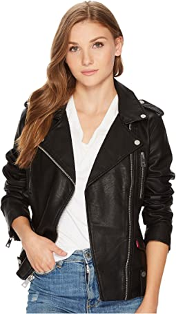 bad734432 Levis faux leather fashion moto jacket w racer collar