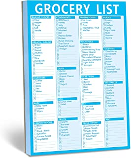 90 Pages Grocery Shopping Weekly Planner List Note Pad with Magnet Mountings (6