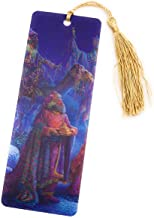 Magi Three Wise Men Presenting Their Gifts - 3D Lenticular Bookmark with a Golden Tassel - Artwork by Tom Dubois