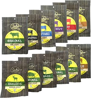 Jerky Lover's Combo - Best Beef Jerky VARIETY PACK - 11 Types of All Natural Jerky - Including Beef, Turkey, Buffalo, Venison, Elk and Boar! 29 total oz.