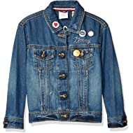 Girls' Big Adaptive Jean Jacket with Magnetic Buttons